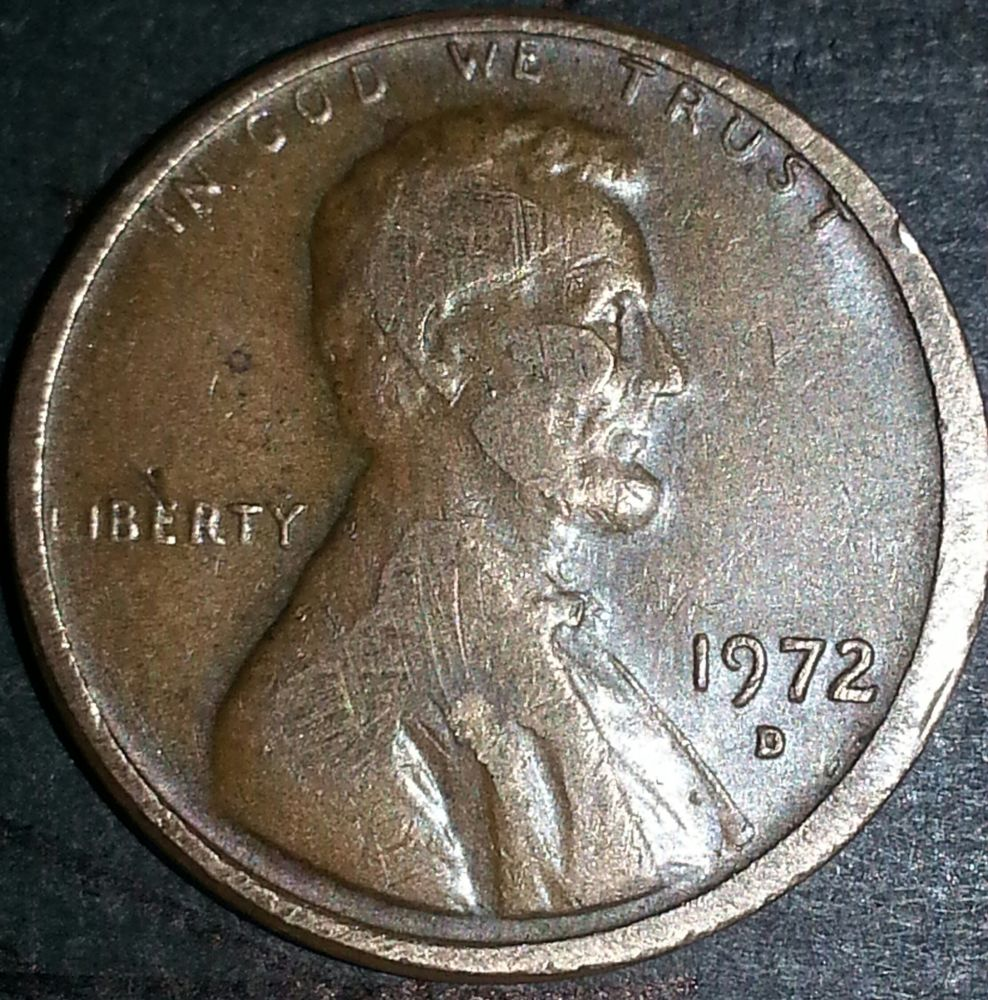 1972 d Penny with lip double wide edges and more, this worth holding