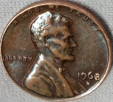 1968-D Lincoln Penny Toning - Coin Community Forum