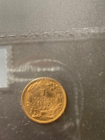 Real or Fake 1887 $1 Gold Dollar? - Coin Community Forum