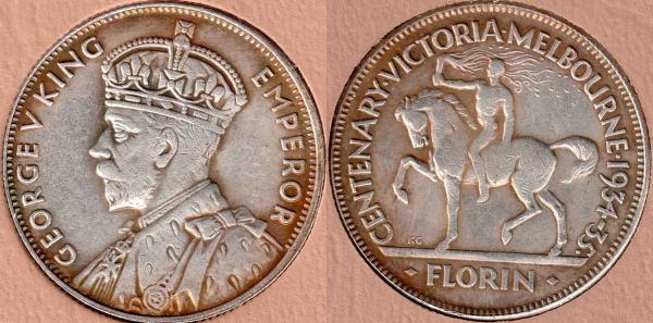 how to tell a fake 1934 5 commemorative florin