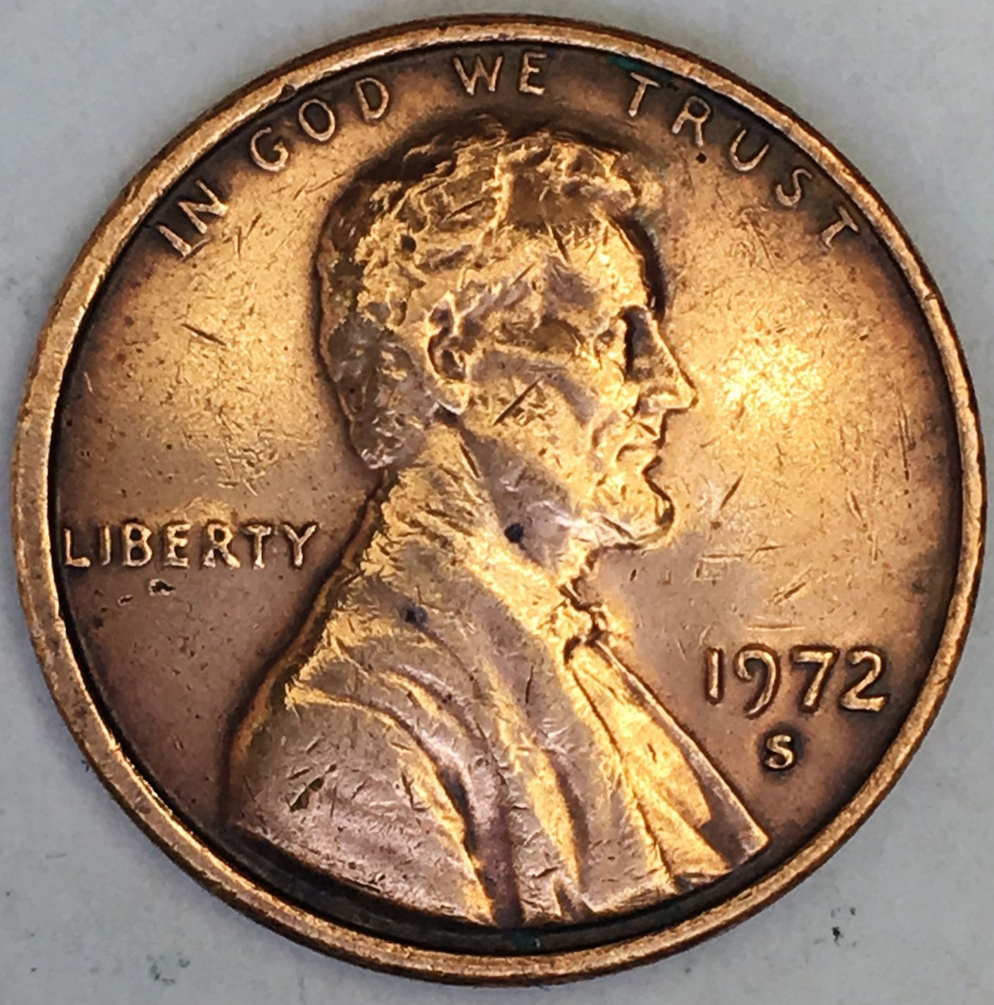 1972 S United States Lincoln Memorial Cent 1