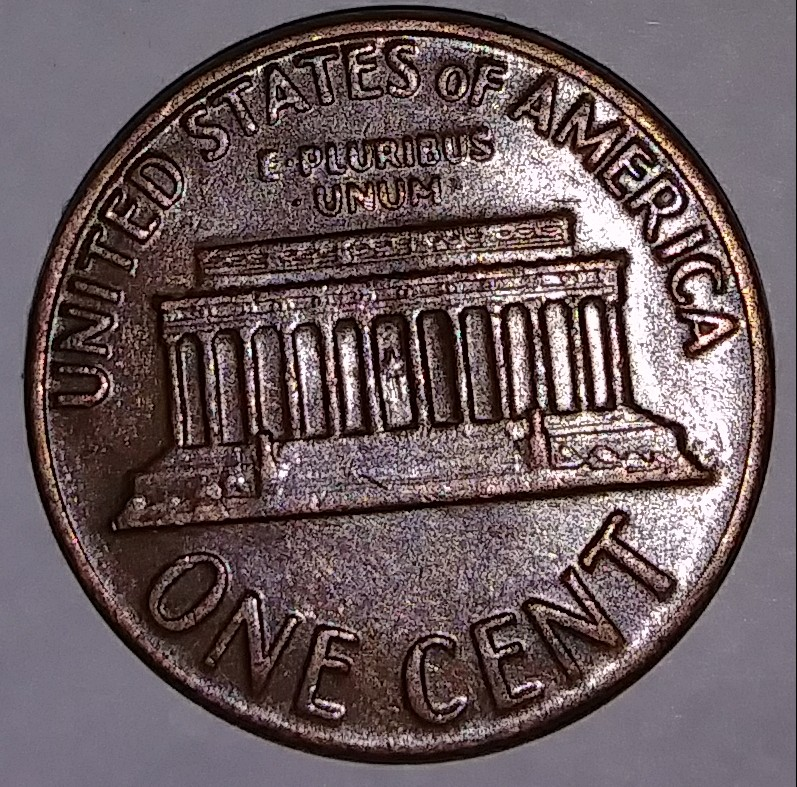 One cent 1969 d no 9 American coin t American coins