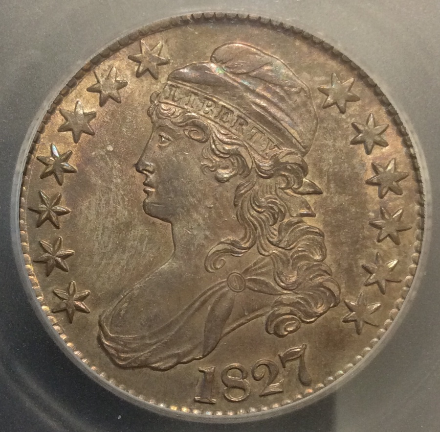 You Vs Icg 1827 Capped Bust Half Dollar Coin