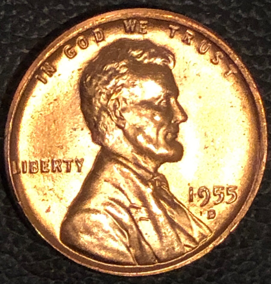 1955 D Lincoln Wheat Cent / LWC , never seen this on a rim before