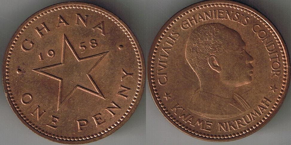 1958 Ghana One Penny Auction At Coin Community Forum