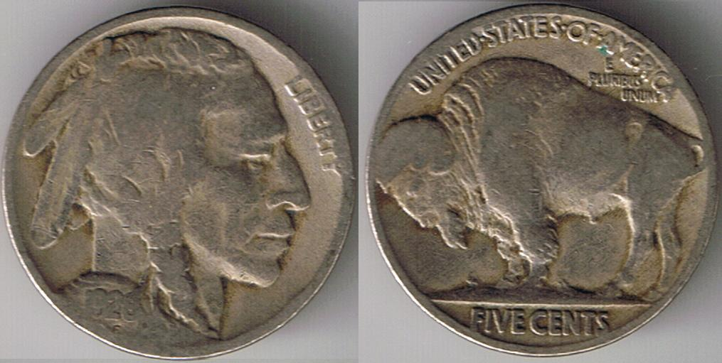 1926 P Buffalo Nickel