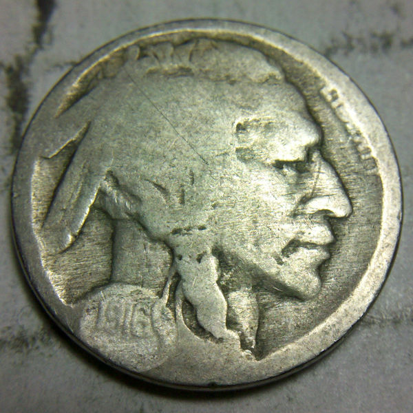 Two Feather 1916 Buffalo Nickel And Other Varieties