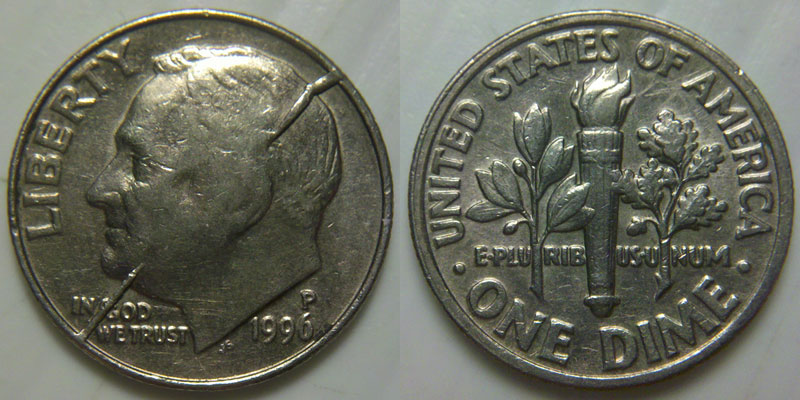 1996 P Dime Catastrophic Split Die Coin Community Forum