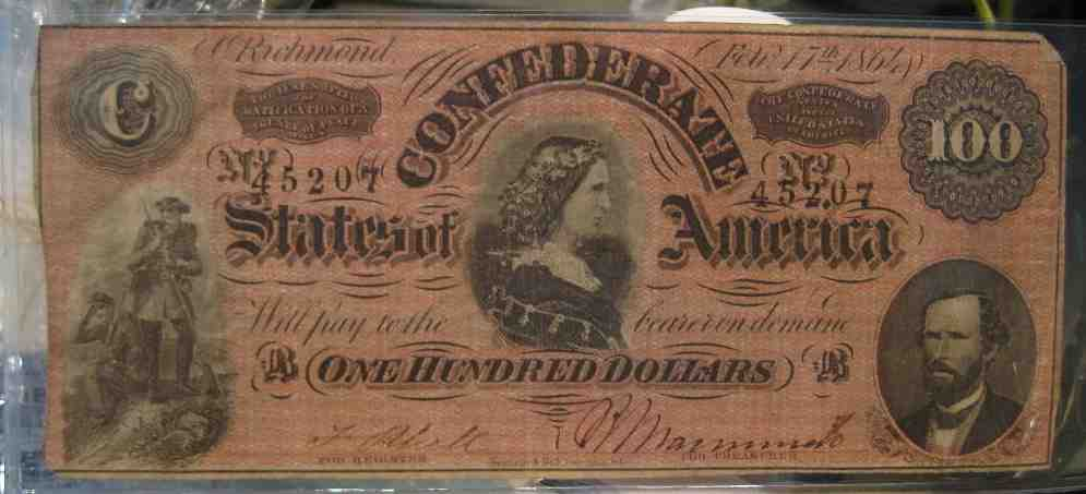 Feb 17th 1864 Confederate 100 Dollar Bill Picture Added Coin Community Forum
