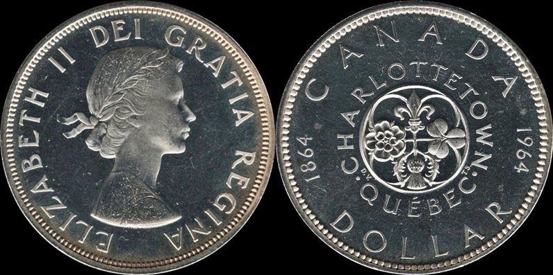 Canadian Pre 1967 Silver Dollar Type Set Completed Coin