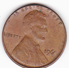 1961 one penny coin value