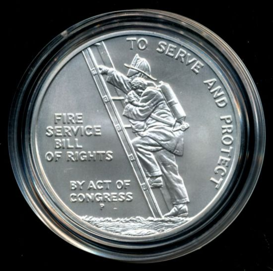 1993 Ben Franklin Firefighters Silver Medal Coin