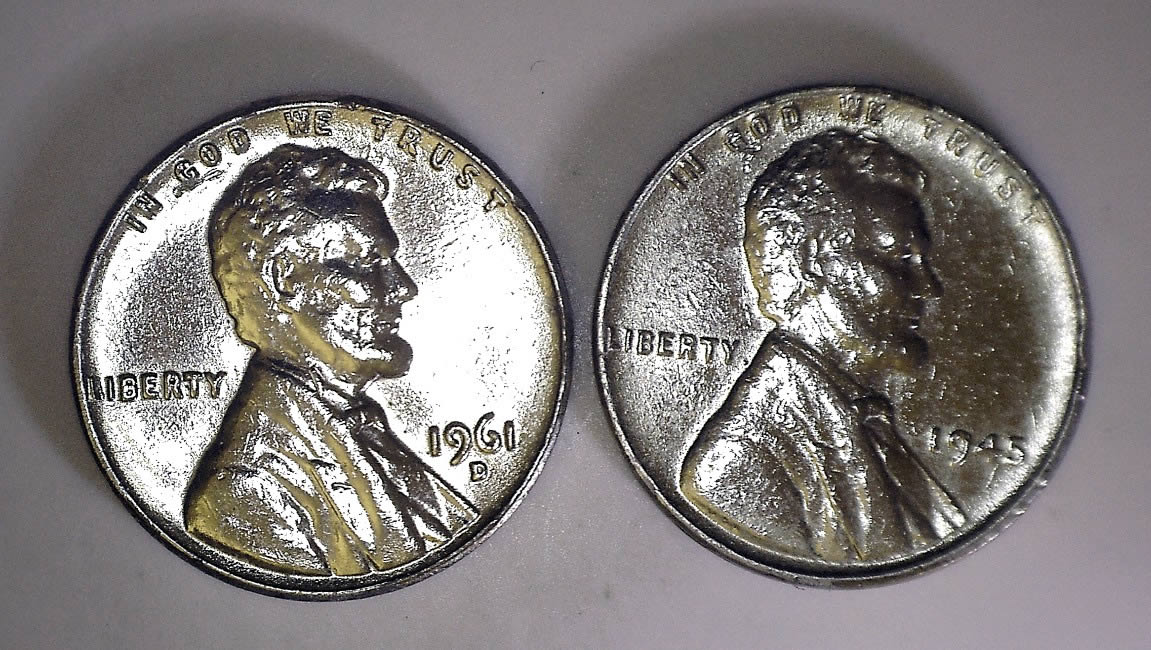1958 D Steel wheat penny? - Coin Community Forum