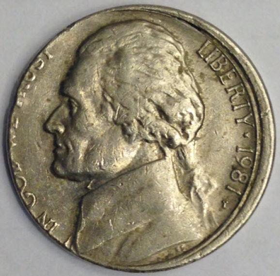 1981P Jefferson Nickel - Misaligned Die - Coin Community Forum