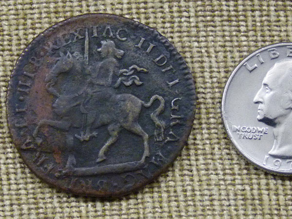 "Irish James II 1690 ""Gun Money"" Crown - Fake? - Coin Community Forum"