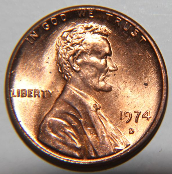 1974 D Lincoln Memorial Cent Lmc Grease Filled Die