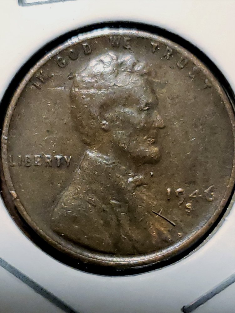1946 S wheatie lam error or die break or both - Coin