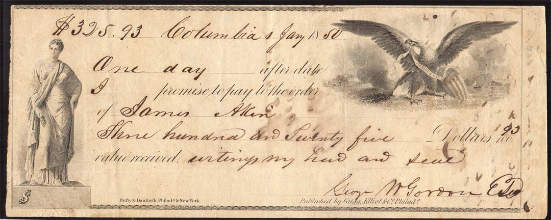 19th century promissory notes - Coin Community Forum