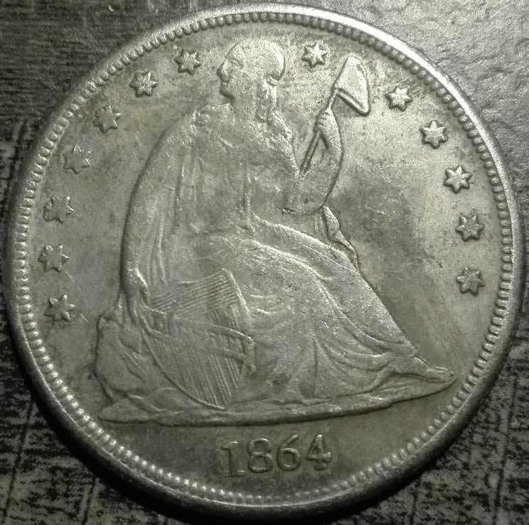 1864 CC Seated Dollar For Sale! Verrrry Rare! - Coin