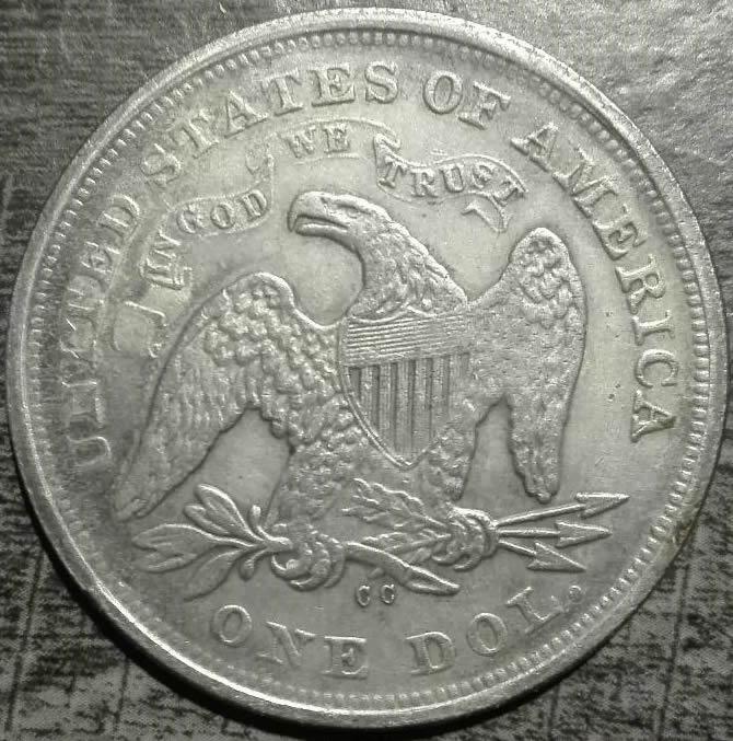 1864 CC Seated Dollar For Sale! Verrrry Rare! - Coin