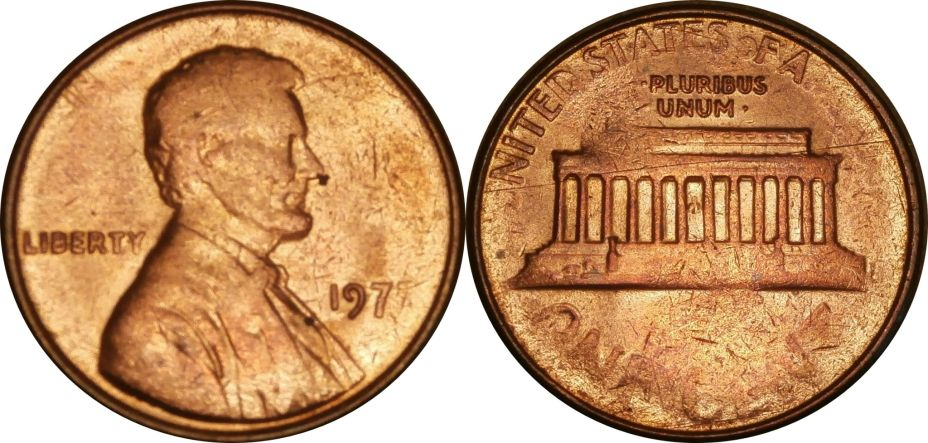 1977 Lincoln Cent Struck through Grease - Coin Community Forum