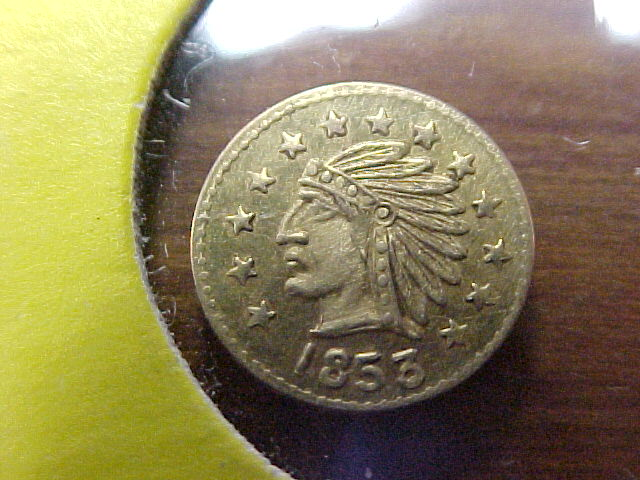 1853 1 4 Calif Gold Token Real Or Fake Coin Community Forum