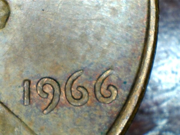 1966 Doubled Die Reverse / DDR Lincoln Memorial penny