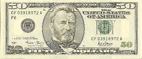 1974 Fifty Dollar Bill http://www.zapmash.com/1981-Fifty-Dollar-Bill.html