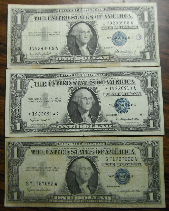 1957 And 1935 Silver Certificates Coin Community Forum