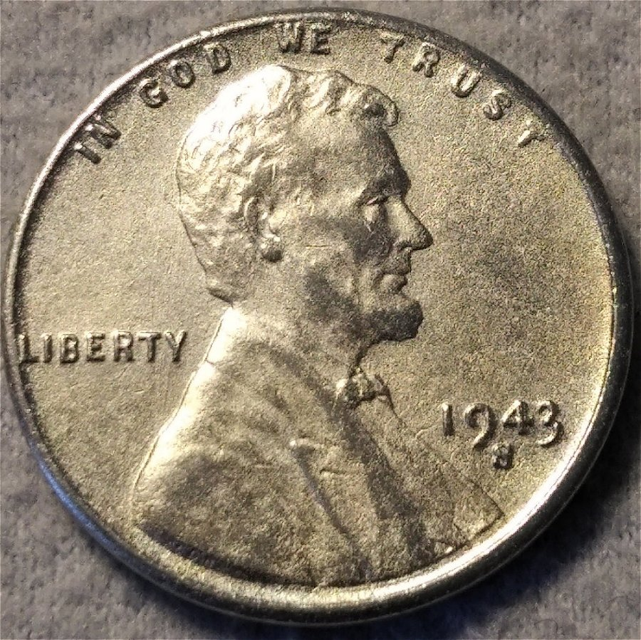 Reprocessed With Bonus Coins 50 Coins 1943-P-D-S Lincoln Steel Wheat Cents