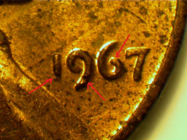 1967 Penny Doubled Die Obverse Ddo Or Not Coin