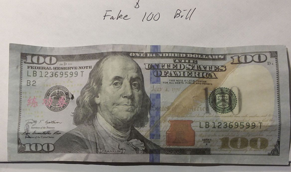 Fake Us $100 Bill With Chinese Symbols - Coin Community Forum