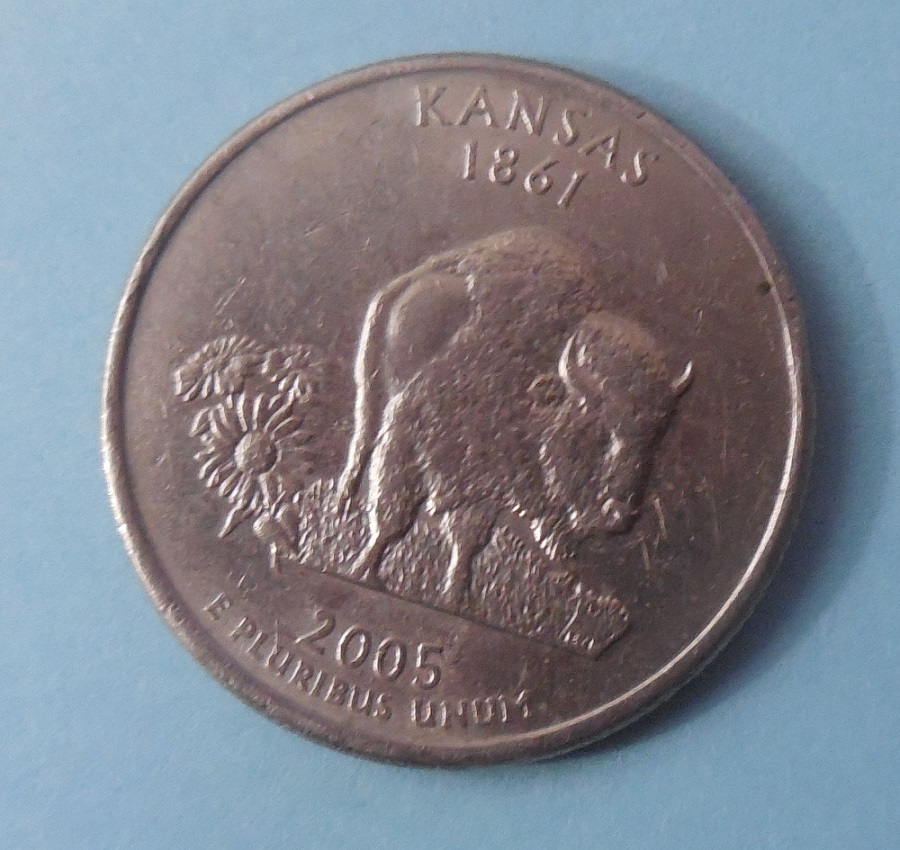 2005 Kansas State Quarter Obverse Quot In God We Rust Quot Coin
