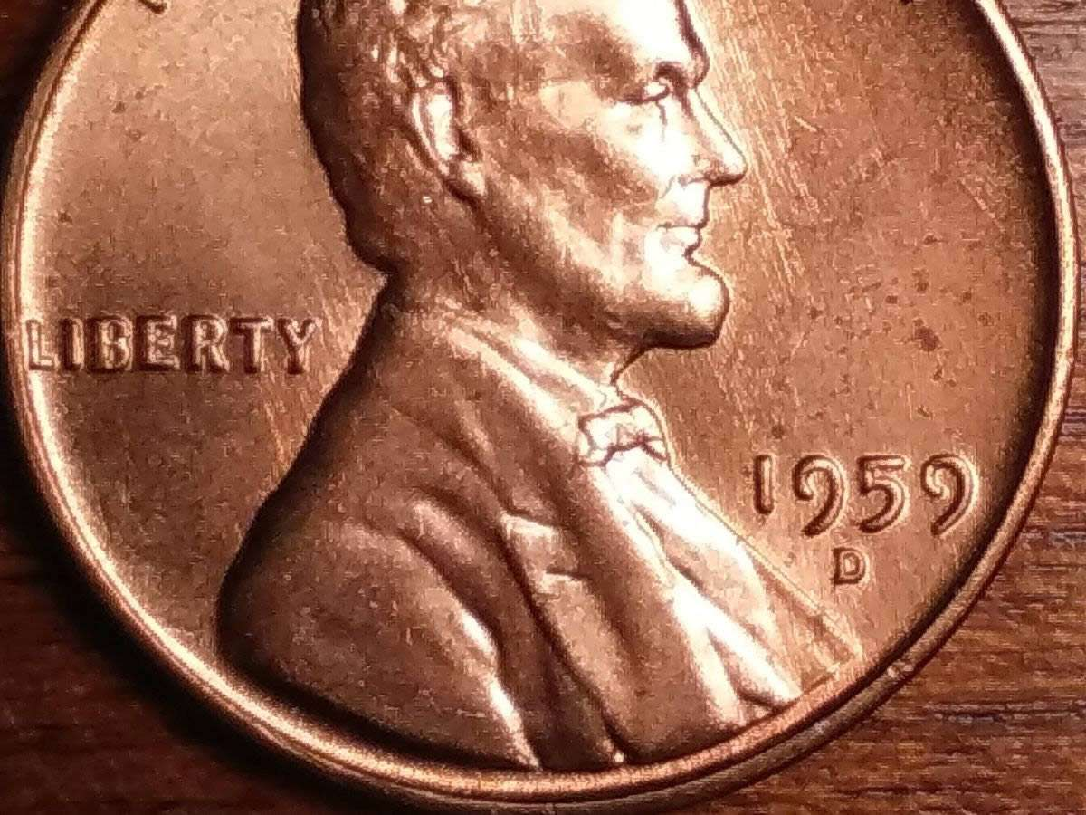 1959 D Lincoln cent Doubled Die Obverse / DDO -001 I think? - Coin