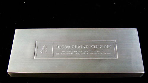 10 000 Grains Sterling Silver Franklin Bar Help Coin