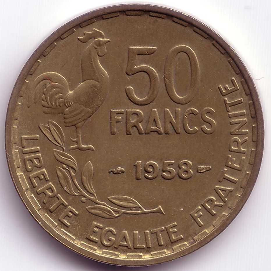 french 50 francs coins coin community forum. Black Bedroom Furniture Sets. Home Design Ideas
