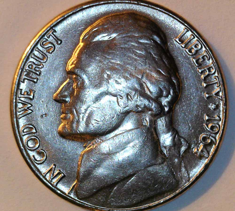 1964 D Jefferson Nickel From Mint Bag