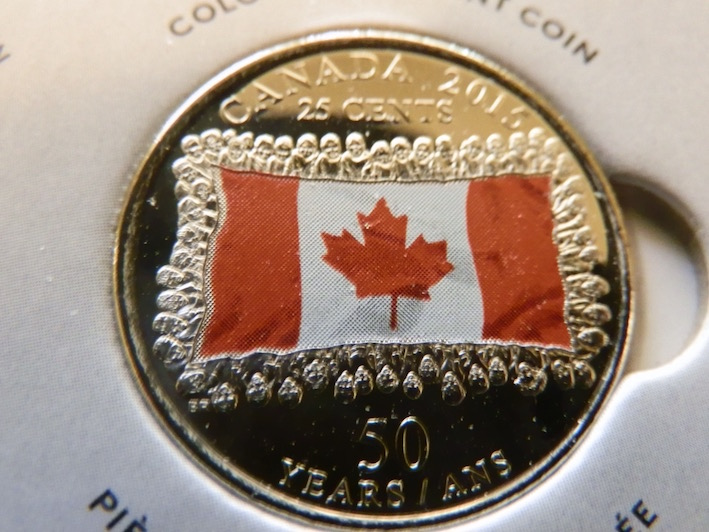 Details about  /RCM BU Flag 2015-25-cent Colorized Red From a new roll