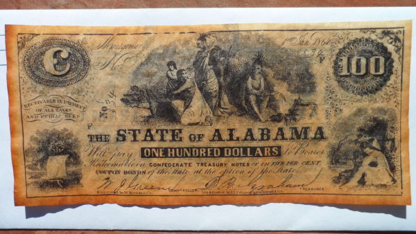Alabama and Mississippi Confederate $100 00 bills - Coin Community Forum