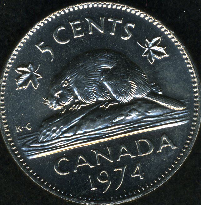 1974 Canadian 5 Cent Flaw - Coin Community Forum