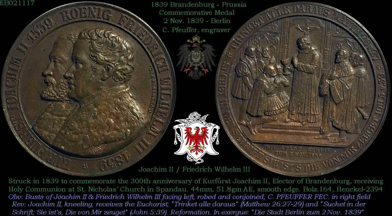 Nice 1839 German medal I picked up today  Brandenburg