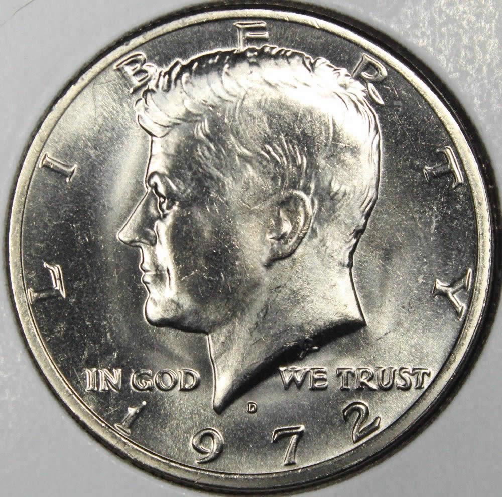 1972-D BU Mint State Kennedy US Half Dollar coin