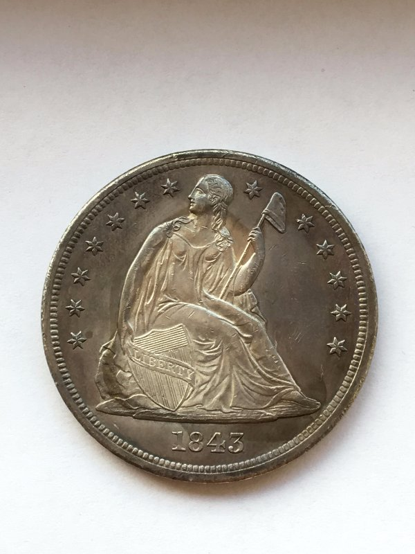 1843 Seated Liberty Dollar For Grading Coin Community
