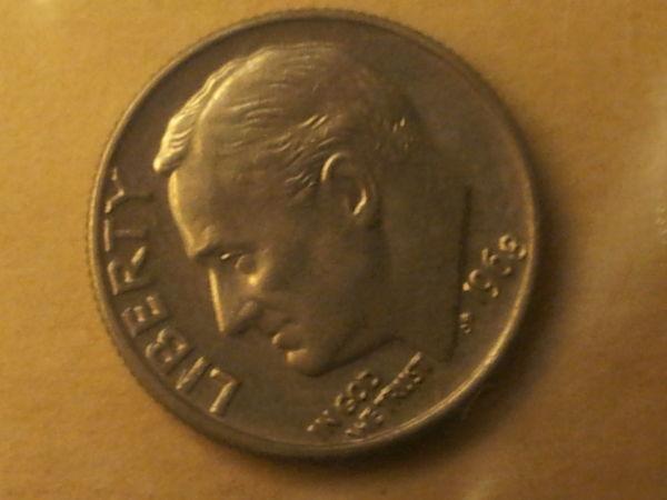 1968 No S Roosevelt Dime Proof Set