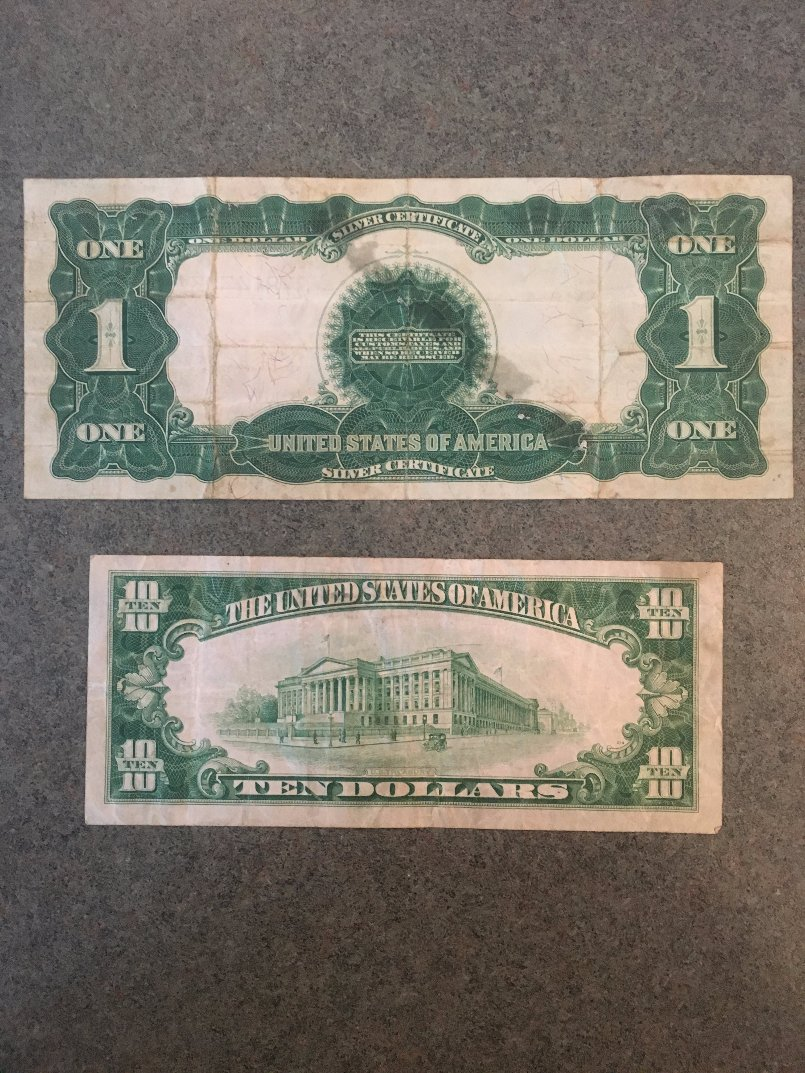 A Set Of Early Us Currency Including Black Eagles