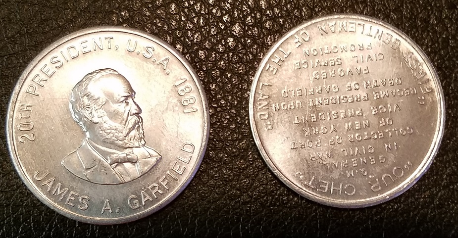 CHALLENGE COIN TOKEN SILVER COLOR THOMAS JEFFERSON 3RD PRESIDENT UNITED STATES