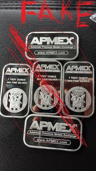 Beware Of Fake Apmex 1oz Silver Bars Coin Community Forum