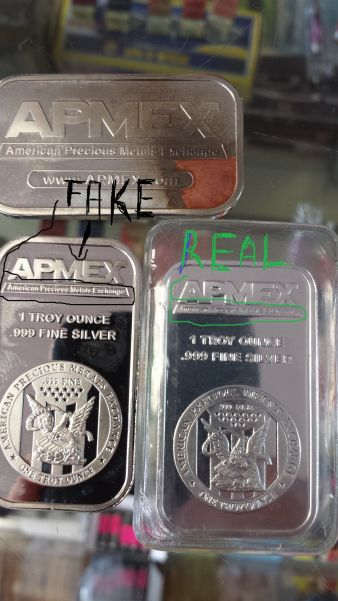 Beware Of Fake Apmex 1oz Silver Bars Coin Community Forum