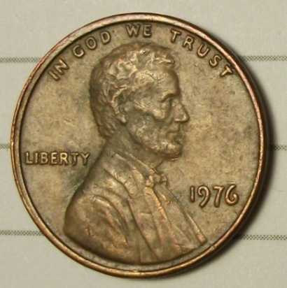 1976 lincoln memorial cent / lmc doubled die obverse / ddo
