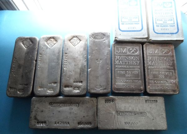 My Growing Stack Of 100 Ounce Silver Bars Coin Community